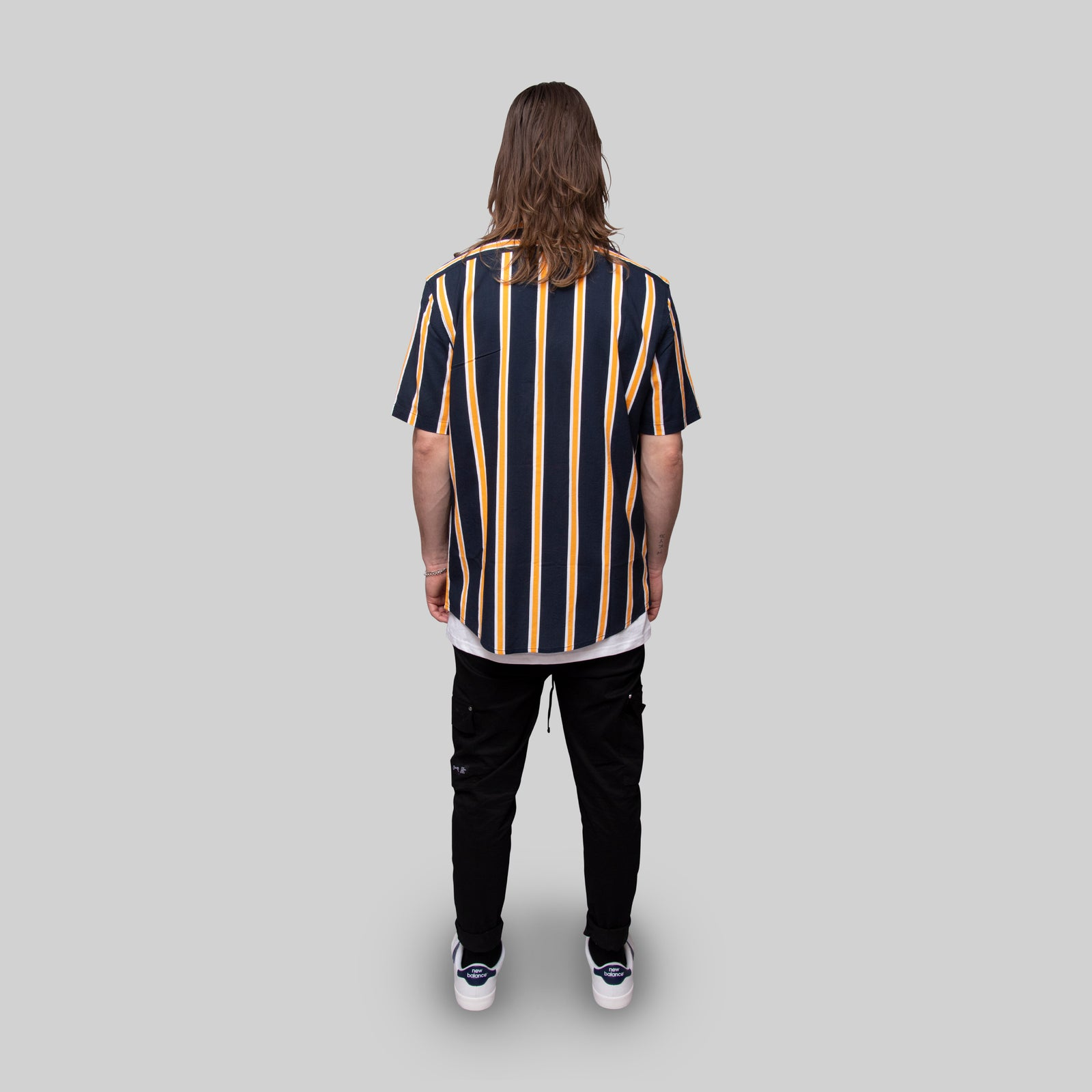 Mens Stripe Short Sleeve Shirt