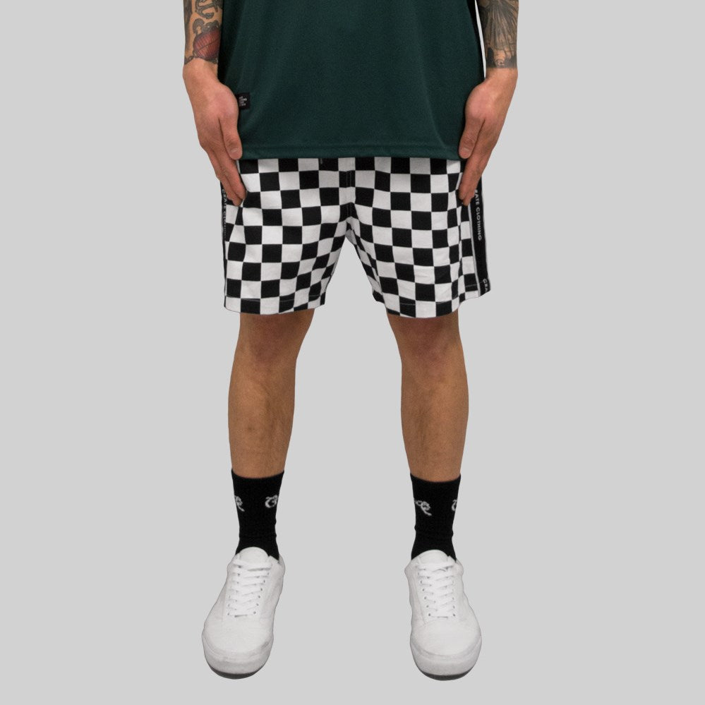 Mens V2 Checkered Short