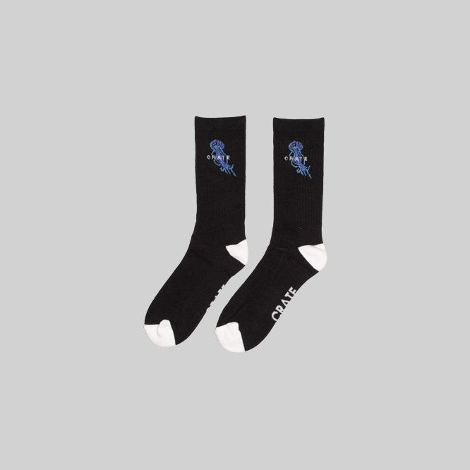 Unisex Jellyfish Sock Black