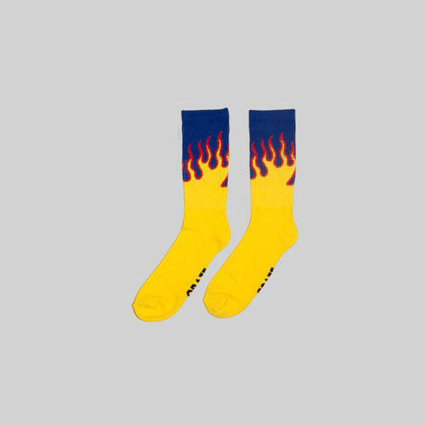 Unisex Flame Sock Blue