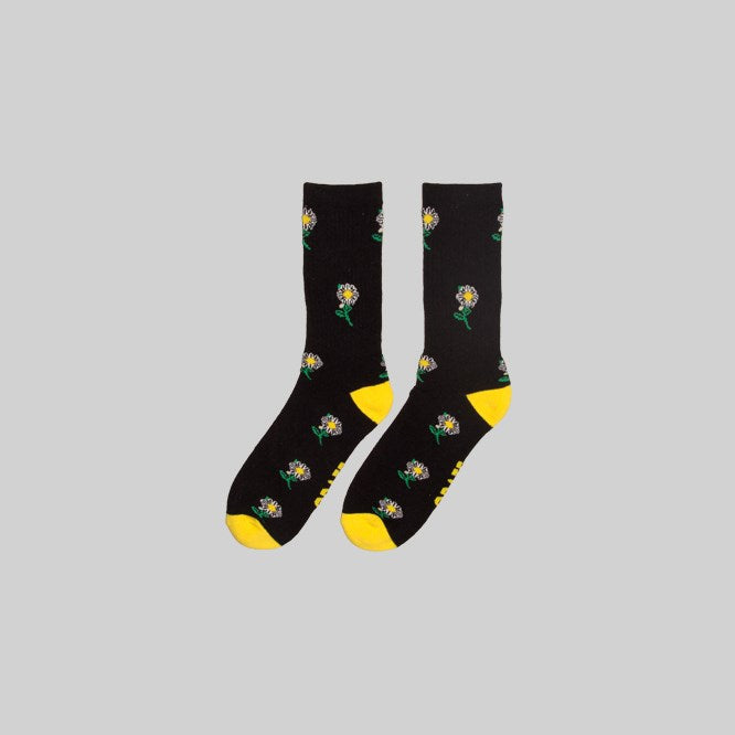Unisex Daisy Sock Black
