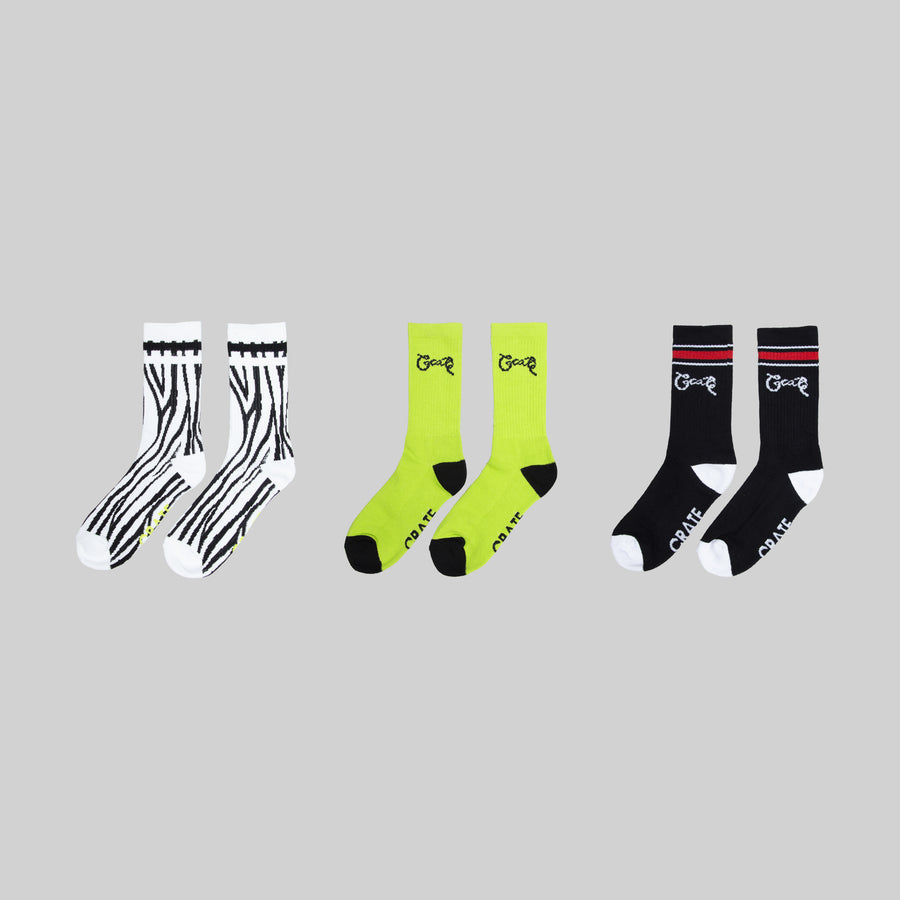 Safari 3 Pack Sock Bundle