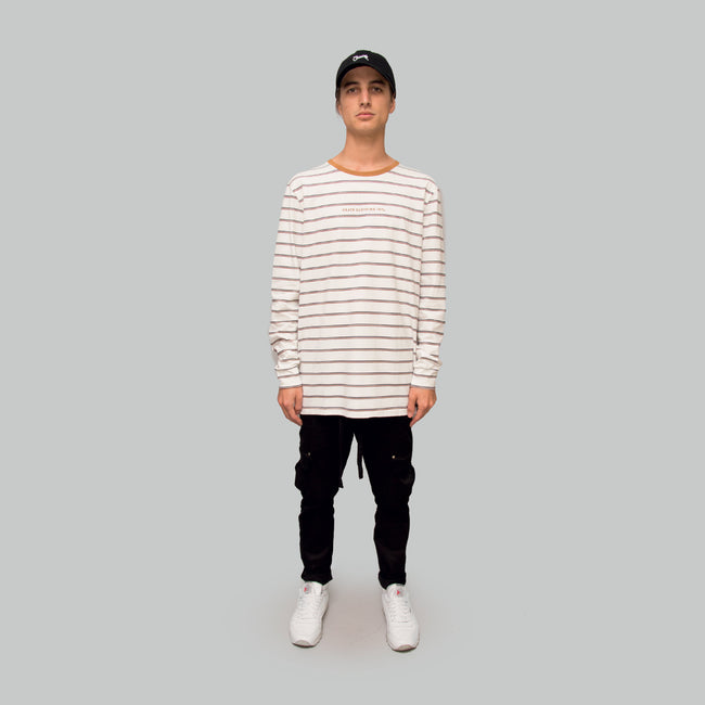 Mens Stripe Long Sleeve