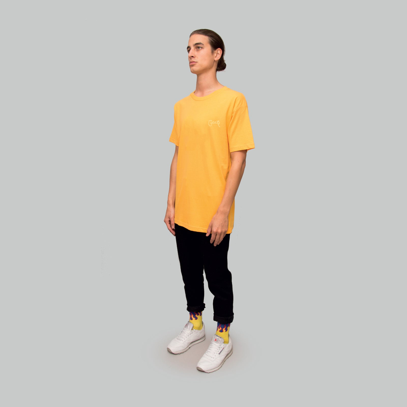 Mens Scripted T-Shirt Yellow/Yellow