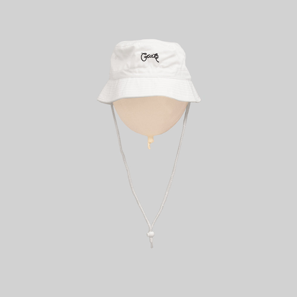Unisex Scripted Bucket Hat White