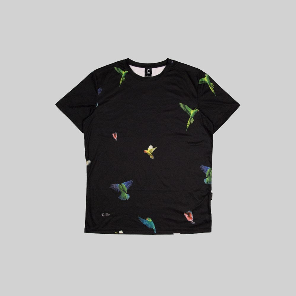 Mens Parrot Gang T-Shirt Black