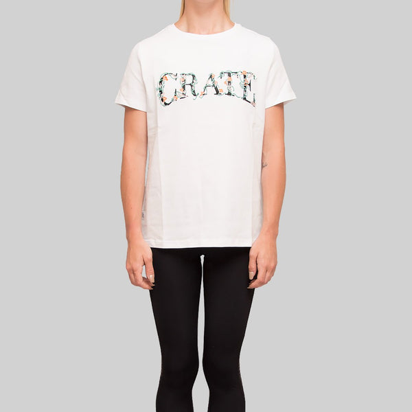 Womens Vine Embroidery T-Shirt White