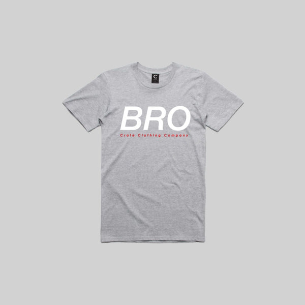 Mens Bro T-Shirt Grey