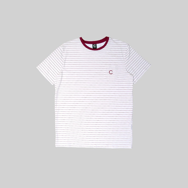Mens Pocket Sailor T-Shirt White/Red