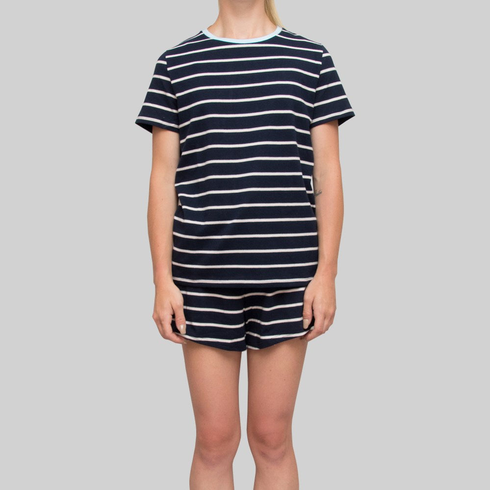 Womens Lola Stripe T-Shirt Navy