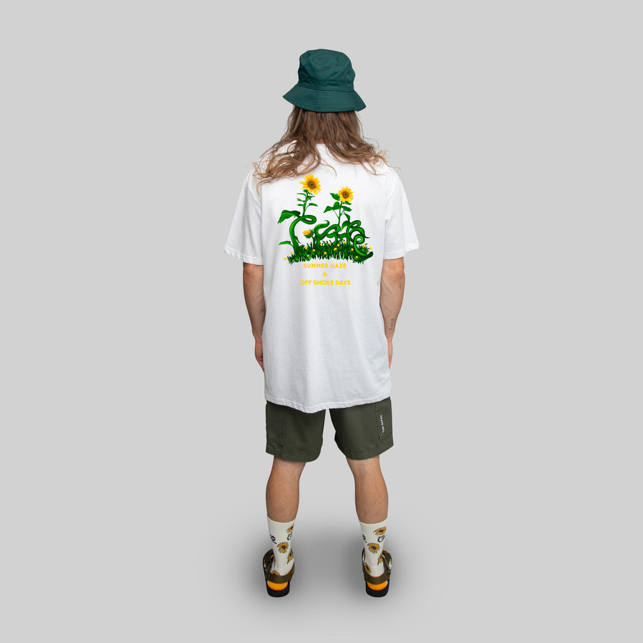 Mens Sunflower Script T-Shirt