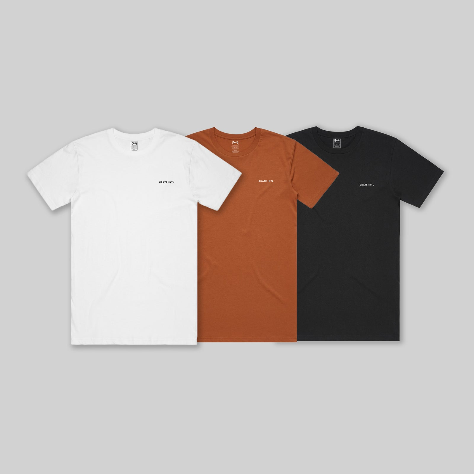 Men's INTL Stamp T-Shirt 3 Pack Bundle