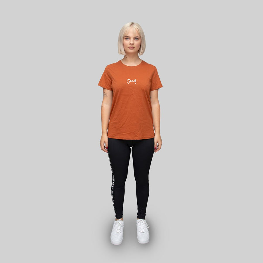 Womens Basic Scripted T-Shirt Copper