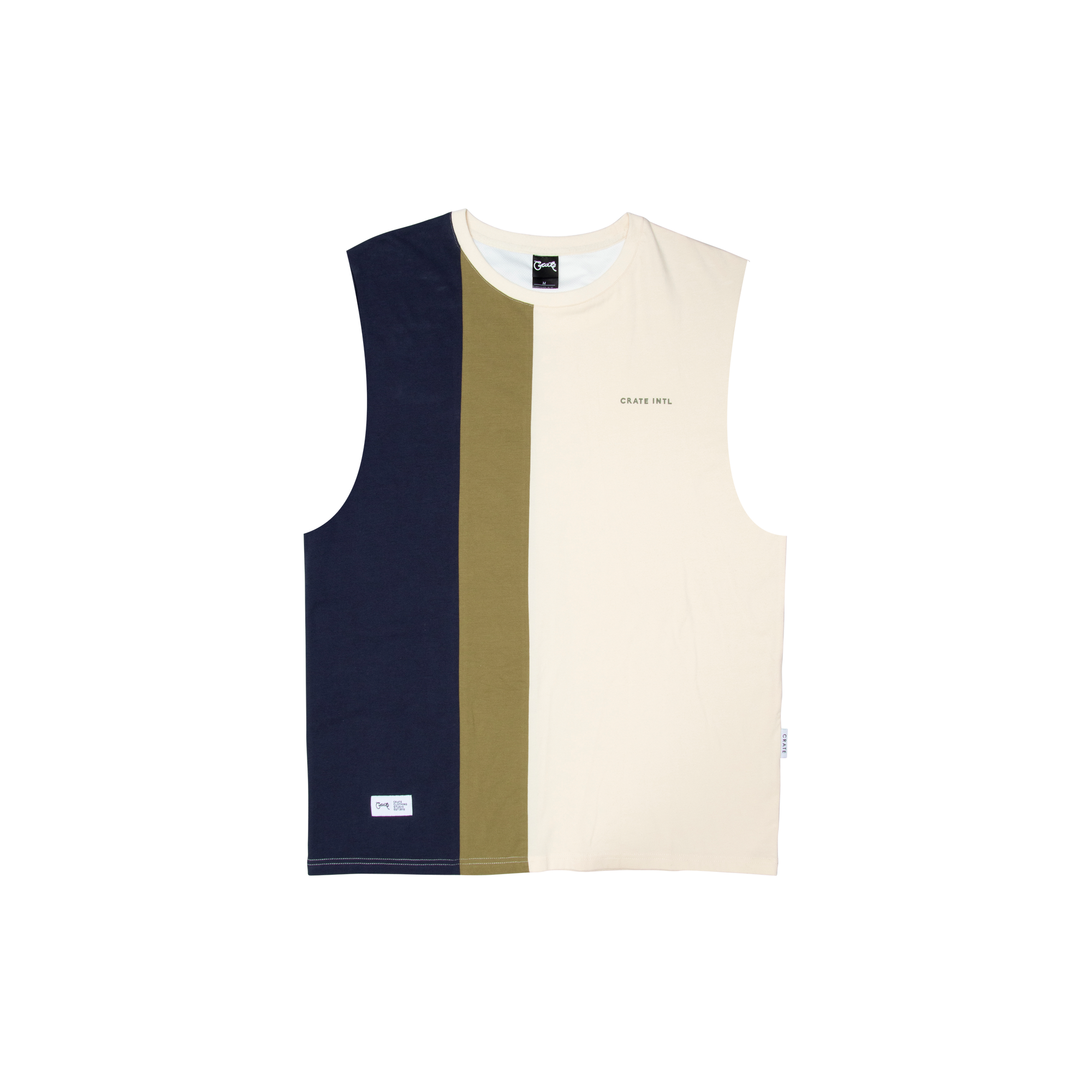 Mens Colour Blocking Muscle Singlet