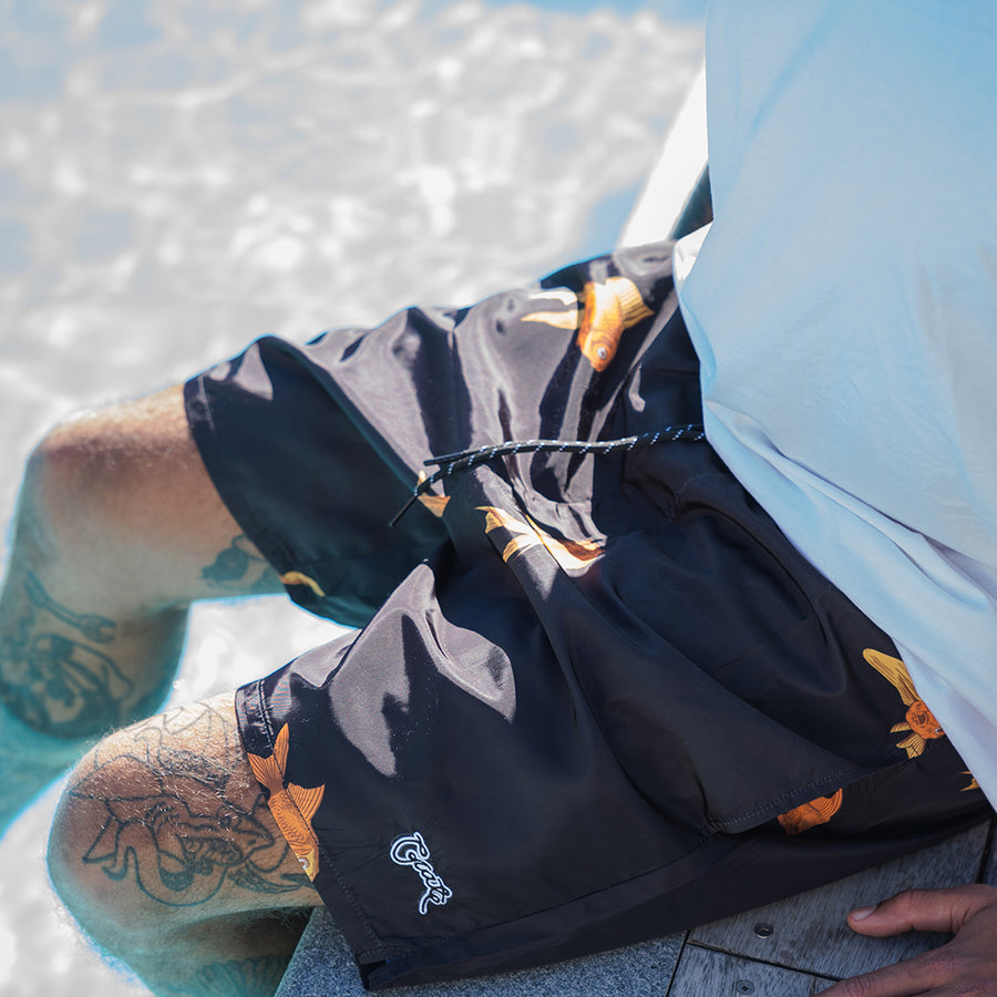 MENS ALL OVER GOLDFISH SWIM SHORTS