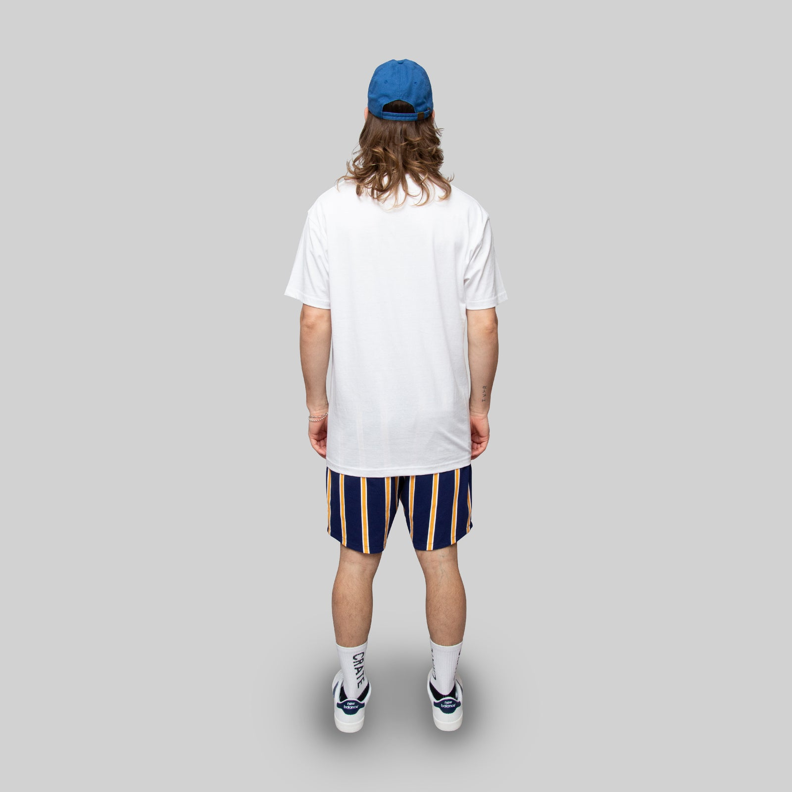 Mens Stripe Reverse Shorts