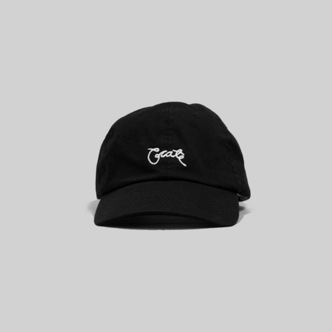 Unisex Scripted Cap Black
