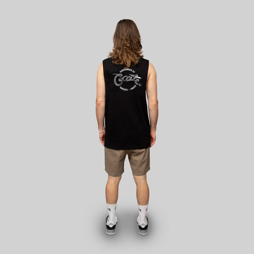 Mens Snakes & Fakes Muscle Singlet