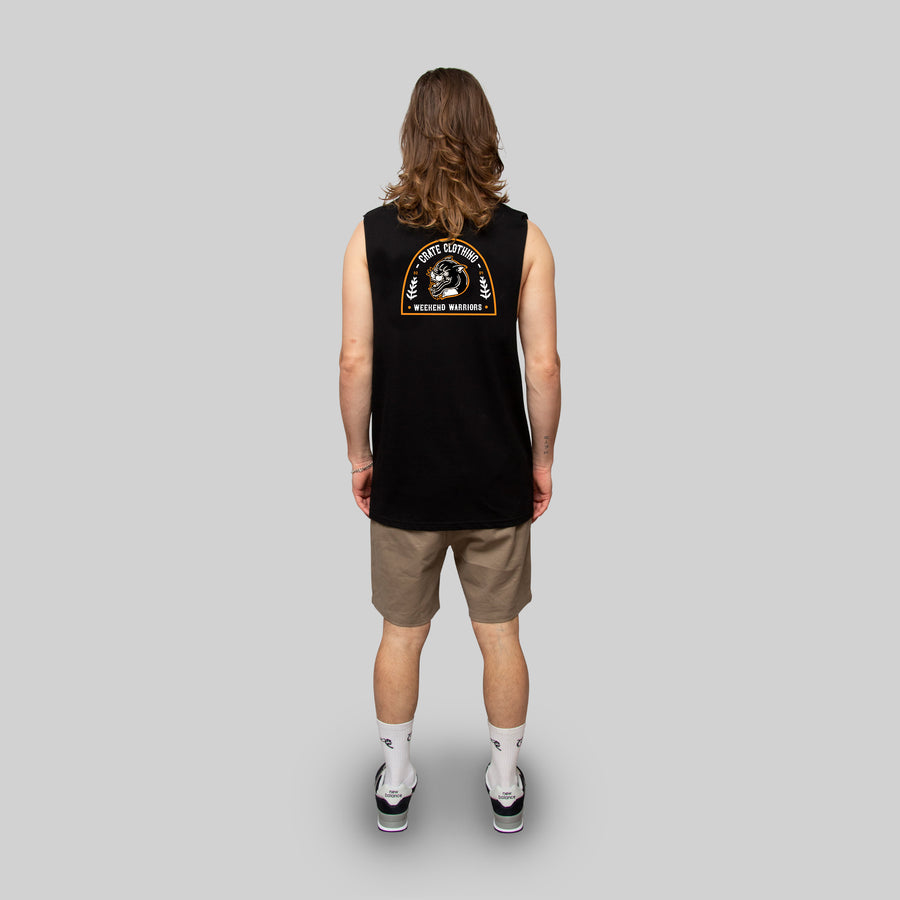 MENS WEEKEND WARRIOR MUSCLE SINGLET