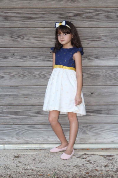 AMANDA LUCKY STARS NAVY AND WHITE