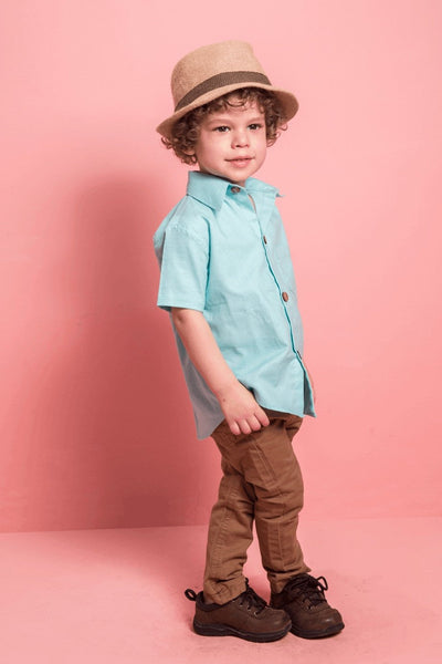 COTTON AQUA SHIRT