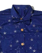 LUCKY STAR NAVY BOW TIE