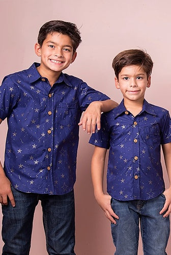 LUCKY STARS NAVY SHIRT