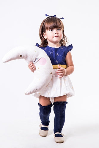 PLAYSUIT LITTLE STARS NAVY & WHITE