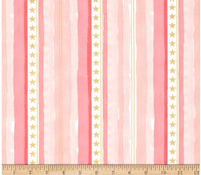VALENTINA DRESS STRIPES STARS PINK.