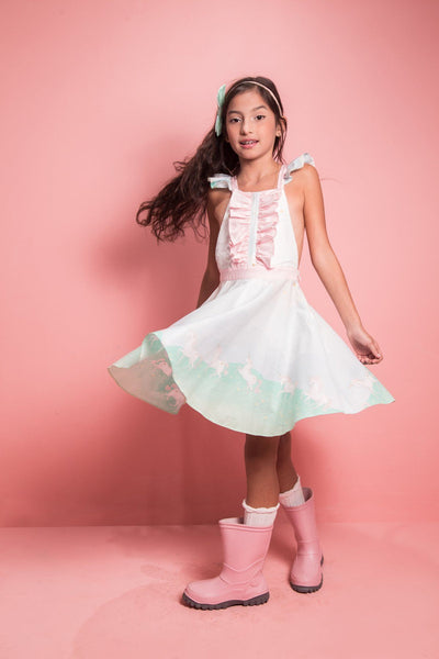 VALENTINA DRESS  UNICORN PARADE MINT