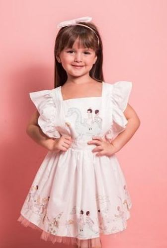 ZOE DRESS MAGICAL PARADE WHITE