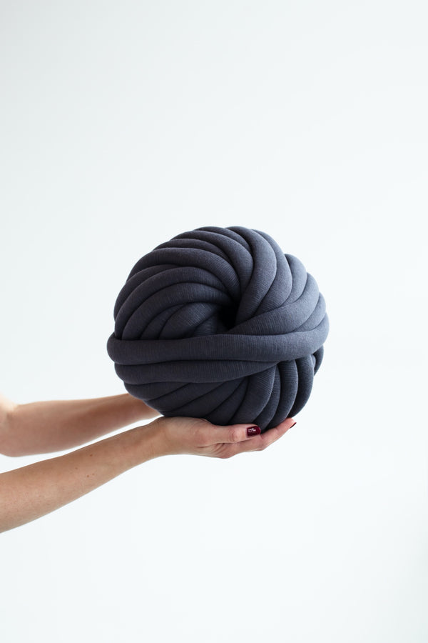 Cotton Tube Yarn Diy Chunky Yarn Arm Knitting Yarn Tube Yarn Ball Graphite Grey 213