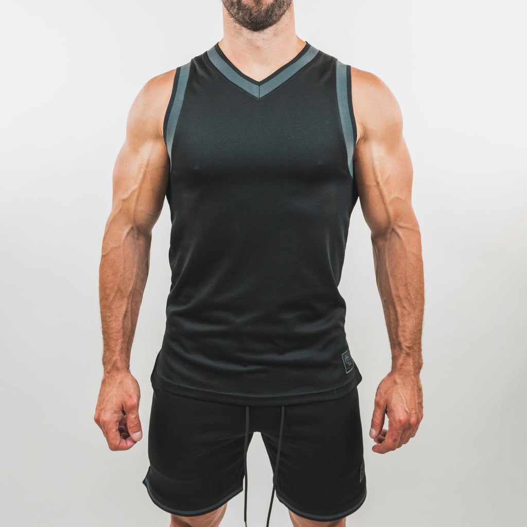 Basketball Jersey Top // Black