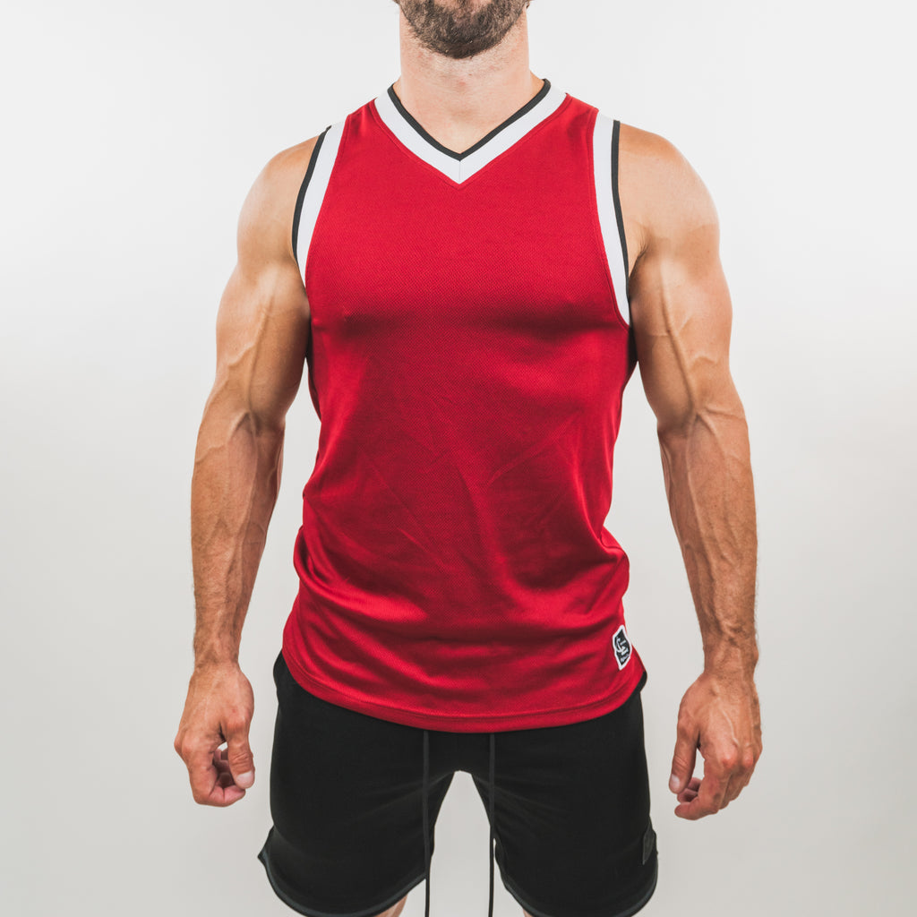 Basketball Jersey Top // Chicago Red