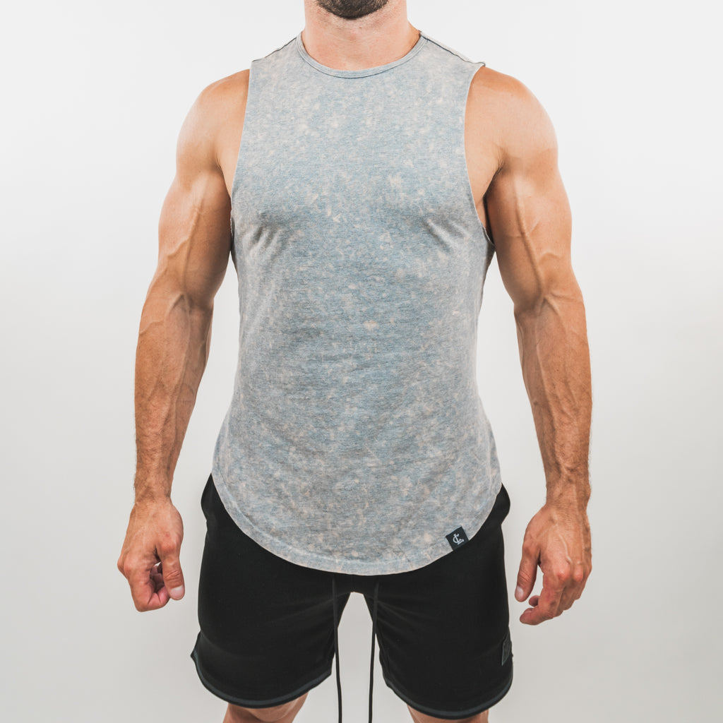 Mineral Wash Muscle Tank // Grey