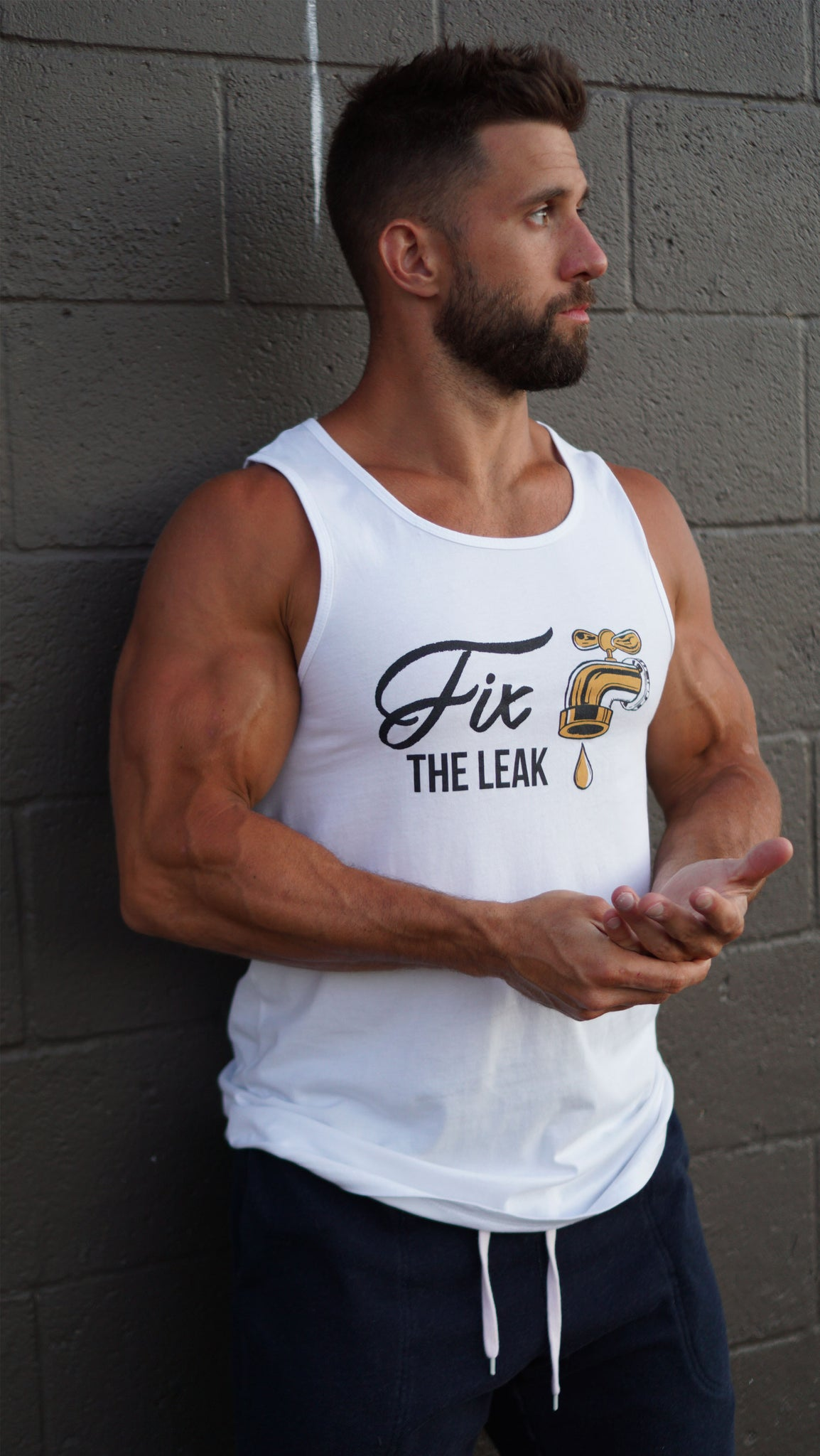 Fix the Leak Tank Top - White