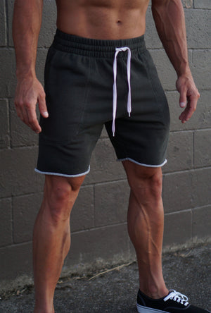 Relaxed Fit Track Shorts - Olive