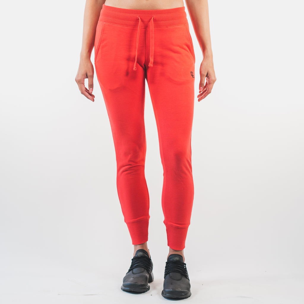 Essential Fitted Joggers // Coral