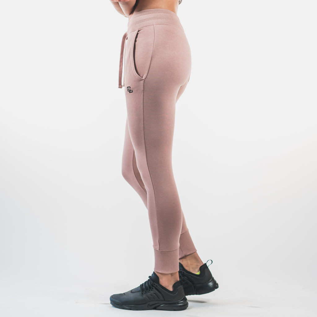 Essential Fitted Joggers // Blush