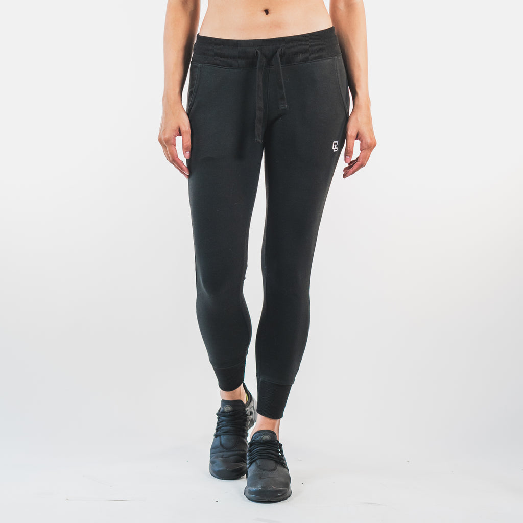 Essential Fitted Joggers // Black