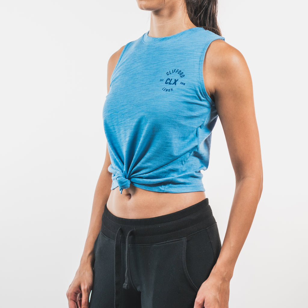 Essential Front-Tie Tank // Light Blue
