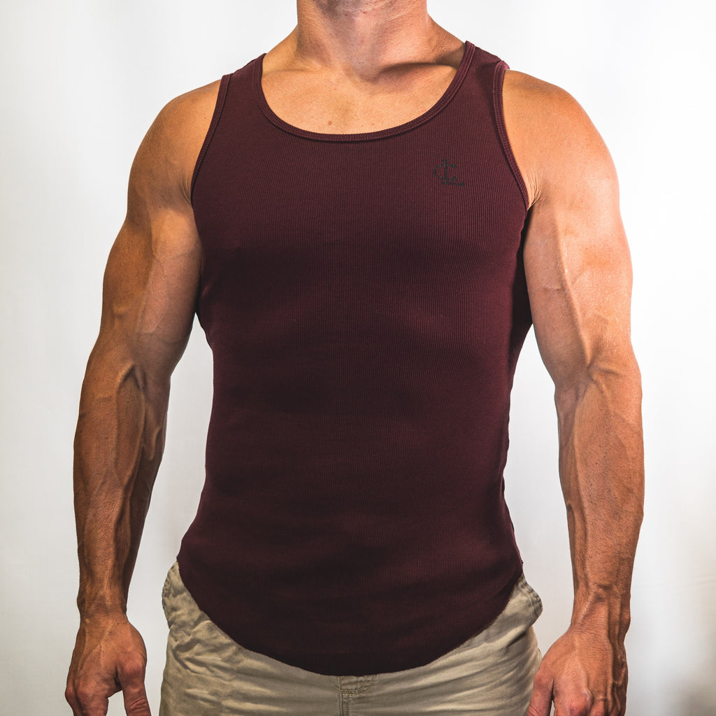 Ribbed Tank Top // Burgundy