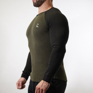 Thermal Warm up Long Sleeve - Olive/Black