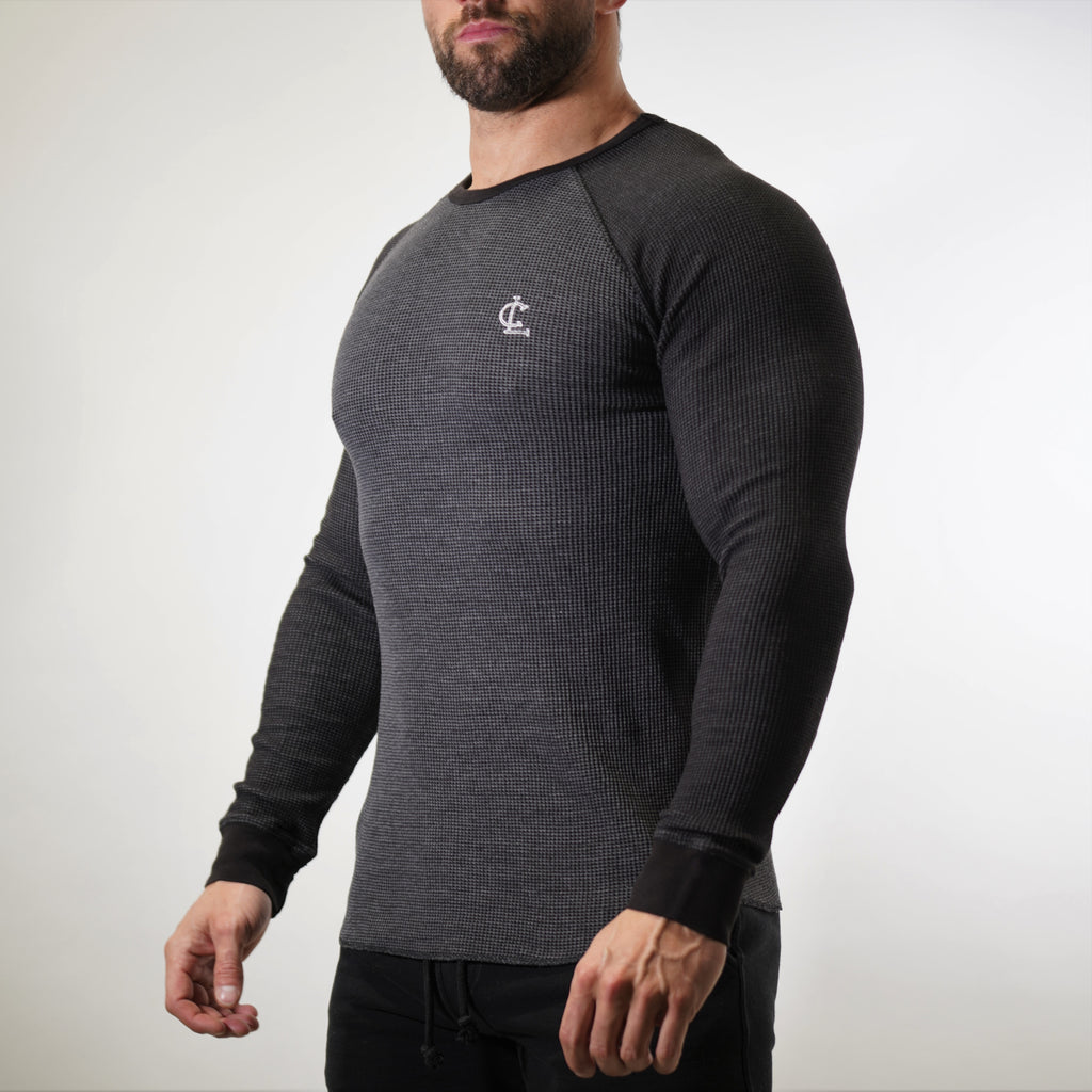 Thermal Warm up Long Sleeve // Charcoal/Black