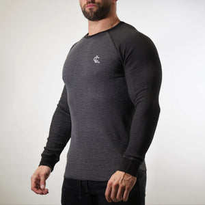 Thermal Warm up Long Sleeve - Charcoal/Sage