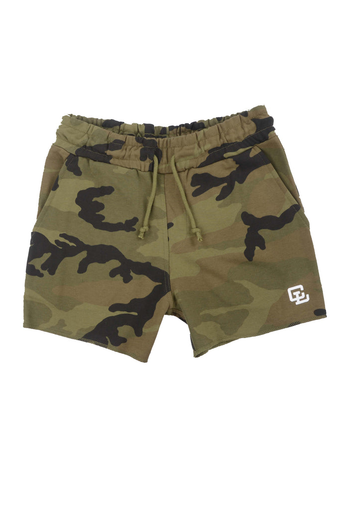 Leg Day Short Shorts // Camo Green 2.0