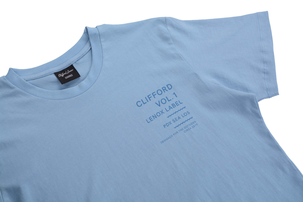 Outsider Vol. 1 Scallop Tee // Blue