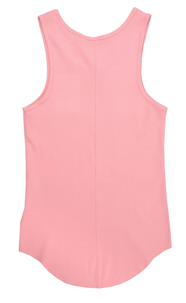 Ribbed Tank Top // Pink