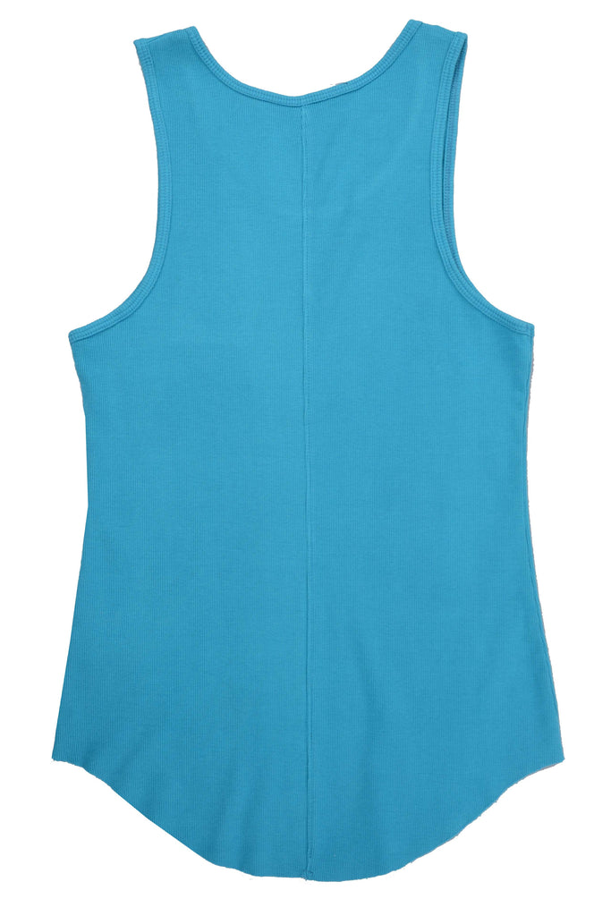 Ribbed Tank Top // Teal