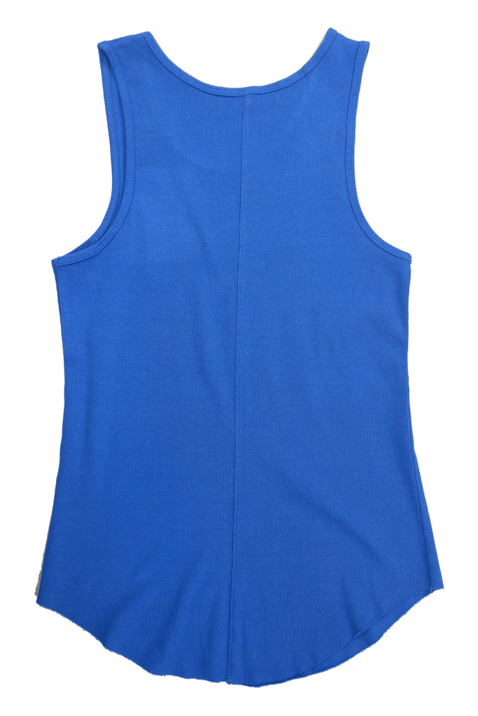 Ribbed Tank Top // Blue